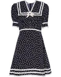 Miu Miu プリントドレス - ブラック