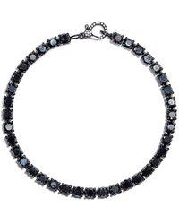 SHAY Bracelet en or noir 18ct orné de diamants