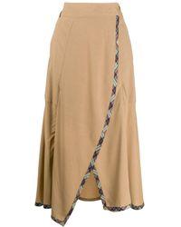 Teija Hame Draped Skirt - Natural