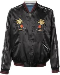 HTC Hollywood Trading Company - Embroidered Bomber Jacket - Lyst