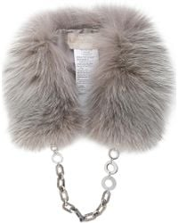 Max Mara - Fox Fur Collar - Lyst