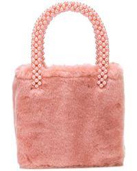 8a48ed2cba Lyst - Shrimps Arthur Faux-fur Bag