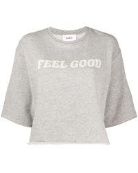 Ba&sh Sweat Felixe à slogan imprimé - Gris