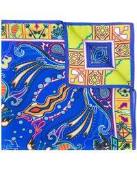 Etro Pañuelo de bolsillo con motivo de cachemira - Azul