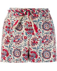Antik Batik Floral Print Shorts - Multicolour
