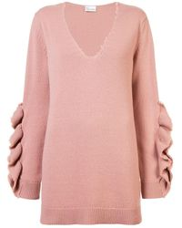 RED Valentino Ruffled Appliqué Jumper - ピンク