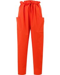 Maison Rabih Kayrouz Paper Bag Trousers - Red