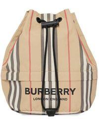 Burberry - アイコンストライプ ポーチ - Lyst