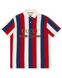 Gucci - ストライプ ポロシャツ - Lyst