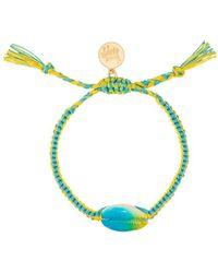 Venessa Arizaga Yellow And Blue Tie-dye Shell Bracelet