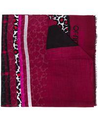 Liu Jo Leopard-print Scarf - Red
