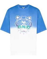 KENZO - T-Shirt mit Tigerstickerei - Lyst