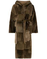 Liska Manteau réversible à design patchwork - Marron