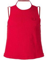 Telfar Top con espalda abierta - Rojo