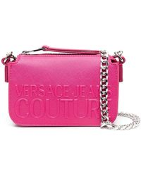 Versace Jeans Couture ロゴエンボス ショルダーバッグ - ピンク