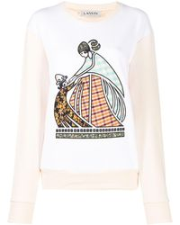 Lanvin Mother And Child Patchwork Sweatshirt - Multicolor