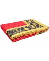 Versace Baroque-print Beach Towel - Red