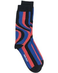 Henrik Vibskov Socken mit Wirbelmuster - Blau