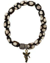 Loree Rodkin Beaded gold angel bracelet - Marron