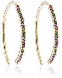 Ileana Makri Rainbow Hoop Earrings - Metallic