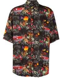 Mauna Kea プリント シャツ - ブラック