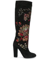 Giambattista Valli - Floral Embroidered Boots - Lyst