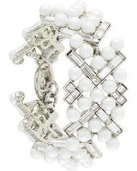 Oscar de la Renta - Embellished Pearl Bracelet - Lyst