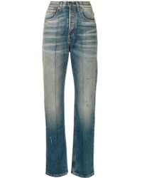 Gucci Embroidered faded jeans - Blau