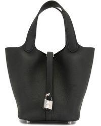 Hermès 2020 Pre-owned Picotin Lock Pm Tote Bag - Black