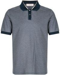 Cerruti 1881 Contrast Trim Polo Shirt - Blue