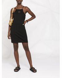 Calvin Klein Платье С Логотипом И Вырезом Халтер - Черный