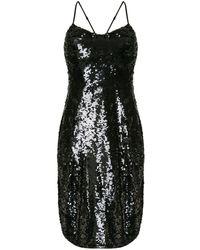 Nili Lotan スパンコール シフトドレス - ブラック