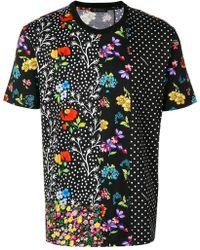 Versace - T-Shirt mit Blumen-Print - Lyst
