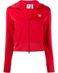 adidas Veste zippée crop Firebird - Rouge