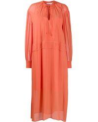 Calvin Klein Платье-рубашка Оверсайз - Оранжевый