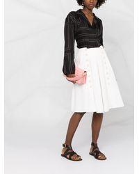 Ports 1961 A-line Pleated Midi Skirt - White