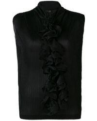 Giorgio Armani - Ruffle-embellished Blouse - Lyst