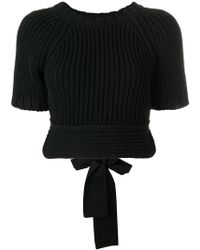 RED Valentino - Backless Knitted Top - Lyst