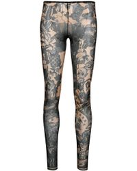 DSquared² - Tropicana Print Footless Tights - Lyst