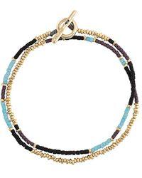 M. Cohen Beaded Wrap Bracelet - メタリック