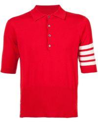 Thom Browne Poloshirt aus Kaschmir - Rot