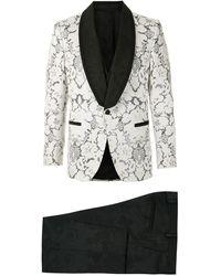 Dolce & Gabbana Traje en jacquard - Multicolor