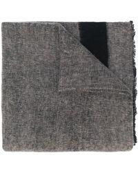 Denis Colomb オーバーサイズ スカーフ - ブラック