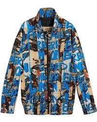 Burberry - Graffiti Print Shell Jacket - Lyst