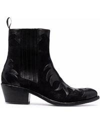 Sartore Stiefel im Western-Look - Schwarz