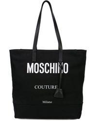 Moschino Сумка-тоут С Контрастным Логотипом - Черный