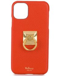 Mulberry Iphone 11 Case With Ring - Orange