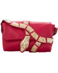 RED Valentino   Snake-embellished Shoulder Bag   Lyst