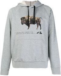 Lanvin Bull プリント パーカー - グレー