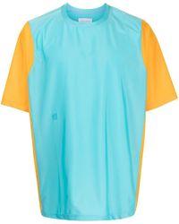 Fumito Ganryu カラーブロック Tシャツ - ブルー